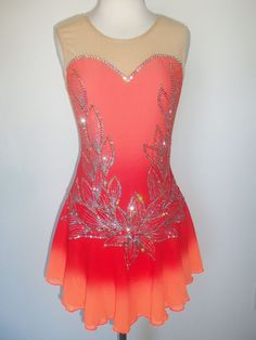 CUSTOM MADE NEW FIGURE SKATING BATON TWIRLING DRESS COSTUME in Sporting Goods, Winter Sports, Ice Skating | eBay