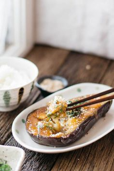 Nasu Dengaku is a delicious #Japanese dish made from eggplant coated in a tasty miso glaze! It's super easy to make!