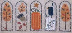 bent creek cross stitch | Bent Creek AUTUMN FALL ARCHES Arch Pumpkin Crow Harvest Leaf - Counted ...
