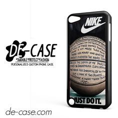 Nike Just Do It Quote Basketball DEAL-7890 Apple Phonecase Cover For Ipod Touch 5