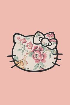 iPhone 5 Wallpaper - Floral Hello Kitty