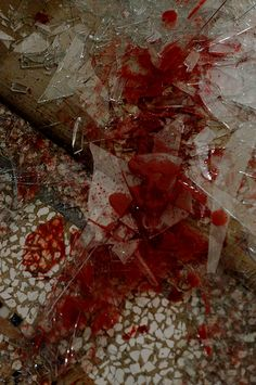 this image of broken glass with blood inspired us for the wrath picture, since it shows the hate and the danger. Snk Annie, Gore Aesthetic, The Wolf Among Us, Sam Dean, My Chemical Romance, Dean Winchester, Creepy, It Hurts, Blood
