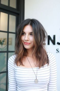 What To Ask For: A warm, brunette base with rose-gold highlights concentrated at the front and ends