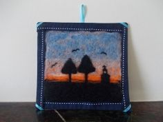 Needle Felted Picture: Dawn Horizon