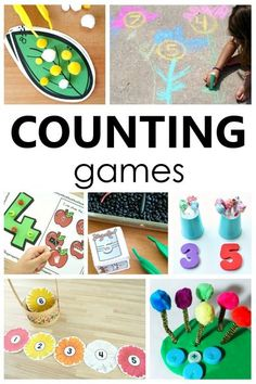 These counting games for preschoolers and kindergarteners will help kids learn to count and recognize numbers in a playful way. Playful math activities for prek and kindergarten.