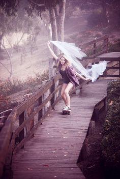skateboarder bride