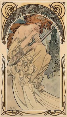 Alphonse Mucha (1860-1939), Allegory of Music, c. 1898: