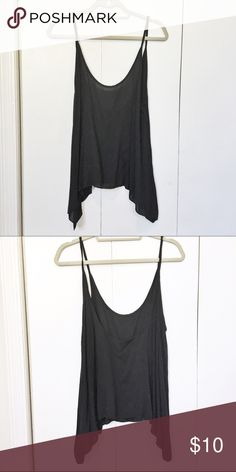 Brandy Melville Scoop Back Top Black Brandy Melville scoop back flowy top Brandy Melville Tops Tank Tops