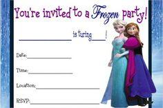 Free Frozen birthday printable invitation