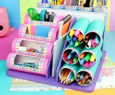 Manualidades 585960601506482545 - Source by haroldparrales Diy Crafts For Girls, Diy Crafts Hacks, Diy Home Crafts, Jar Crafts, Crafts To Do, Upcycled Crafts, Paper Roll Crafts, Cardboard Crafts, Cardboard Rolls