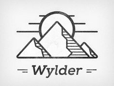 Brand Exploration for Wylder  source: http://dribbble.com/shots/1166216-Wylder-Mountains#