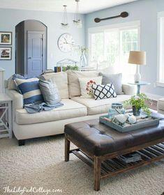 Link to many coastal ideas - Living room blue