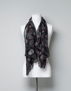 SKULL-PRINT SCARF from Zara- bought it last weekend and I LOVE IT!