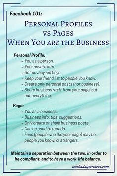 FaceBook 101- Profiles vs Pages vs Groups - infographic