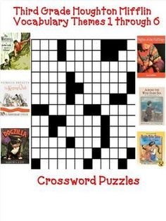 I have developed these fun third grade crossword puzzles to teach, re-teach, practice, or assess vocabulary in the third grade Houghton Mifflin anthologies from themes 1 though 6.  This package has been updated with a word bank added.  $