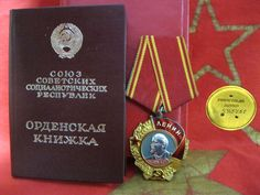 ORDER LENIN #443461 ORIGINAL GOLD PLATINUM highest award SOVIET RUSSIA doc USSR