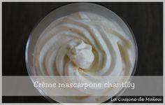 Crème mascarpone chantilly au thermomix (ou sans) La cuisine de Malou Icing, Voici, Eat, Cooking, Recipes, Food, Sweets, Kitchens, Kitchen