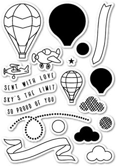 Memory Box Clear Stamps FLYING HIGH Open Studio CL5157 zoom image