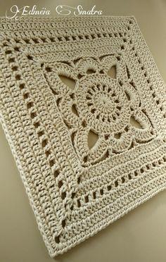 Crochet square thread 10 - My ideas : Crochet s. - Crochet square thread 10 – My ideas : Crochet square - Crochet Blocks, Granny Square Crochet Pattern, Afghan Crochet Patterns, Crochet Squares, Crochet Granny, Crochet Motif, Crochet Doilies, Free Crochet Square, Doily Rug