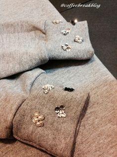Embelished Sweatshirt by Coffee Break #DIY Sudadera para el Otoño Invierno