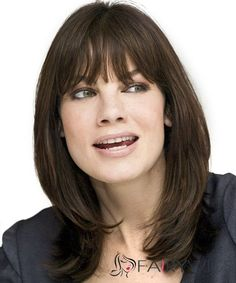View yourself with this Michelle Monaghan Long Straight Hairstyle Casual Hairstyles, Easy Hairstyles, Straight Hairstyles, Cheap Human Hair Wigs, Human Wigs, Damp Hair Styles, Curly Hair Styles, Long Bob With Bangs, Michelle Monaghan