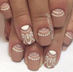 "Short nails are much easier for women. Especially working women prefer short nails. If you love short nails, you must see ""Wonderful Short Nail Desi. Stylish Nail Designs For Short Nails # Gorgeous Nails, Pretty Nails, Ongles Beiges, Moon Nails, Nail Polish, Nail Nail, Best Nail Art Designs, Indian Nail Designs, Paint Designs"