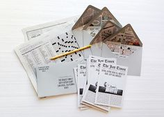 Best of 2013: Baby Announcements / Jett's Little Newsboy Birth Announcements by SHE Paperie: