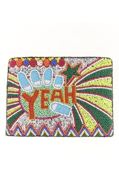 """Aussie label St. Xavier dreams up accessories that are brilliant and bold, like this beaded clutch with optional crossbody strap.Zip closure; lined. Interior slip pocket.    Dimensions: 12""""L x 0.5""""W x 9""""H; 20"""" strap drop.   Violet Clutch by From St. Xavier . Bags - Clutches New Jersey"""