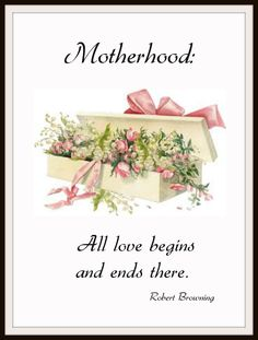 """Beautiful art print Vintage Mother's Day Art Print """"Motherhood"""" Wall Decor Unframed Print is Unframed x Ready for framing . Professionally printed on medium weight cardstock Mothers Day Gifts From Daughter Diy, Mothers Day Crafts, Mothers Love, Happy Mothers Day, Mother Day Wishes, Make Your Own Card, Love You Mom, Mother And Father, Vintage Cards"""