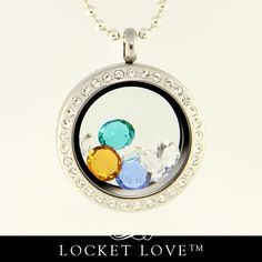 Locket Love™ Floating Locket with Crystals. Select your Swarovski Crystal birthstones. From Annie Howes.