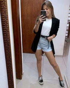 Cute Trendy Summer Outfits to Copy Now Mode Outfits, Girl Outfits, Fashion Outfits, Womens Fashion, Blazer Fashion, Fashion Ideas, Classy Outfits, Casual Outfits, Teenager Fashion Trends