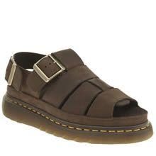 womens dr martens brown shore flash fisherman sandals