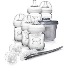 Philips AVENT Natural Glass Baby Bottle Gift Set! Babies R Us
