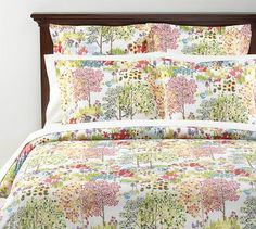 Woodland Organic Duvet Cover & Sham $75 for the queen at Pottery Barn