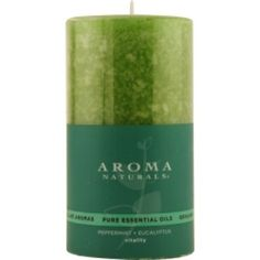 VITALITY AROMATHERAPY CANDLE USES THE ESSENTIAL OILS OF PEPPERMINT & EUCALYPTUS TO CREATE A FRAGRANCE THAT IS STIMULATING AND REVITALIZING. BURNS APPROX. 75 HRS.