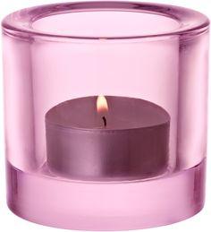 Iittala Kivi 60 mm kynttilälyhty Vaalea pinkki