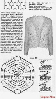 by Gerda Remi Crochet Pants, Crochet Cardigan, Crochet Clothes, Crochet Sweaters, Crochet Motif, Knit Crochet, Crochet Patterns, Crochet Tops, Shrugs And Boleros
