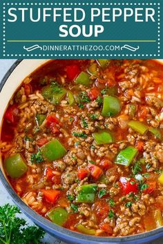 Stuffed Pepper Soup - Healthy Eating - Suppe - Stuffed paprika soup Informations About Gefüllte Paprika Suppe – Gesundes - Easy Soup Recipes, Healthy Recipes, Eat Healthy, Healthy Soup Recipes, Best Mac N Cheese Recipe, Mac Cheese, Cheese Sauce, Quick And Easy Soup, Fall Dinner Recipes