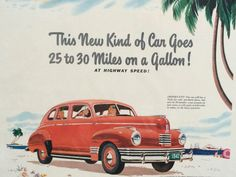 Vintage Car Advertisement