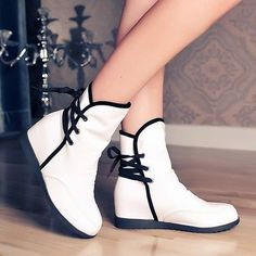 Hot-Sale-Spring-Womens-Casual-Hidden-Wedge-Sweet-Girls-Wedge-Flats-Ankle-Boots