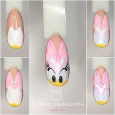 Summer nail art 700239442044302722 - Daisy Nails art étape par étape Source by venus_bella Daisy Nail Art, Daisy Nails, Nail Art Disney, Duck Nails, Mickey Nails, Nail Drawing, Animal Nail Art, Nail Swag, Nagel Gel