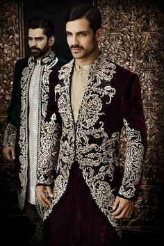 Arsalan Iqbal Groom Sherwani Collection 2014 Posted on February 2014 2 Anshul, good look for sangeet Indian Groom Wear, Indian Wear, Wedding Men, Wedding Suits, Wedding Jacket, Farm Wedding, Wedding Couples, Boho Wedding, Wedding Reception