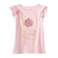 Disney's+Beauty+and+the+Beast+Girls+4-7+Flutter+Sleeves+Graphic+Tee+by+Jumping+Beans