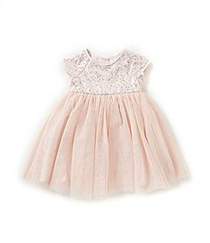 Pippa and Julie 2T6X SequinEmbellishedBodice TulleSkirted Dress #Dillards
