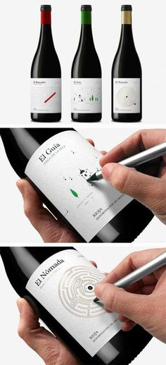 Some Of The Best Interactive Package Designs Ever Packaging That Turns Into A Hanger Meat Packaging With A Freshness Indicator Packaging Folds Into A Fake Plate Origami Bottle Label Squishable Wine. Bottle Packaging, Food Packaging, Brand Packaging, Design Packaging, Packaging Ideas, Coffee Packaging, Innovative Packaging, Product Packaging, Wine Bottle Design