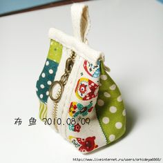 Picture tutorial for this cute little purse.. make bigger for a bag...