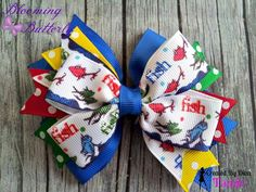 Dr. Seuss classic stacked hair bow  https://www.facebook.com/media/set/?set=a.897934796912431.1073741887.664051576967422&type=3