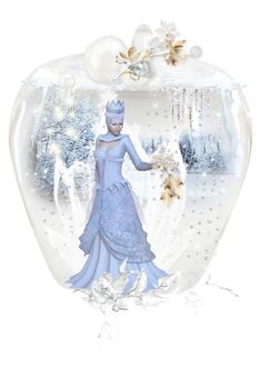 """""""Glass Apple / Frozen Apple Art"""" by kari-c ❤ liked on Polyvore featuring art"""