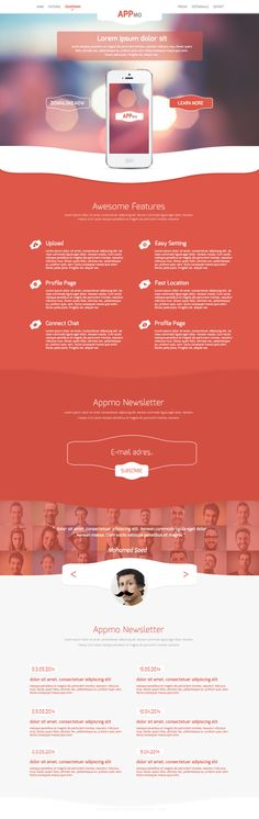 Appmo - Free One Page App Landing Page PSD Template