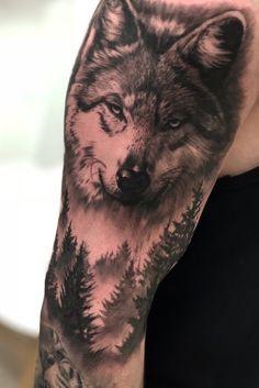 Made with & in - Copenhagen, Denmark _____________________________________________ Wolf Tattoos Men, Native Tattoos, Dog Tattoos, Finger Tattoos, Animal Tattoos, Body Art Tattoos, Wolf Tattoo Shoulder, Wolf Tattoo Forearm, Tribal Wolf Tattoo